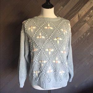 Vintage Floral Sweater 🌸🌸🌸